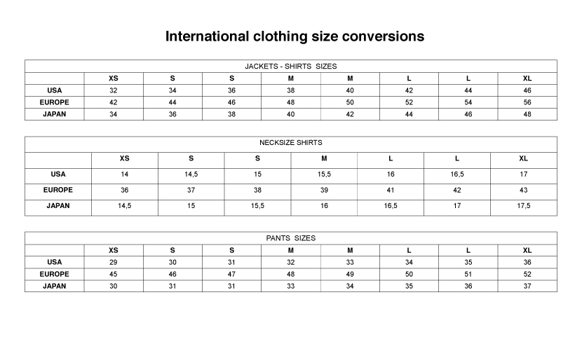 clothing-size-convention