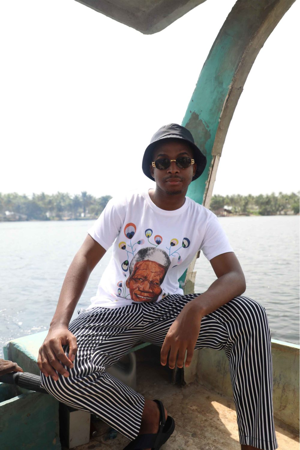 Trevor stuurman wearing the nelson mandela shirt