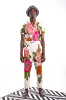 Roses pants with floral prints