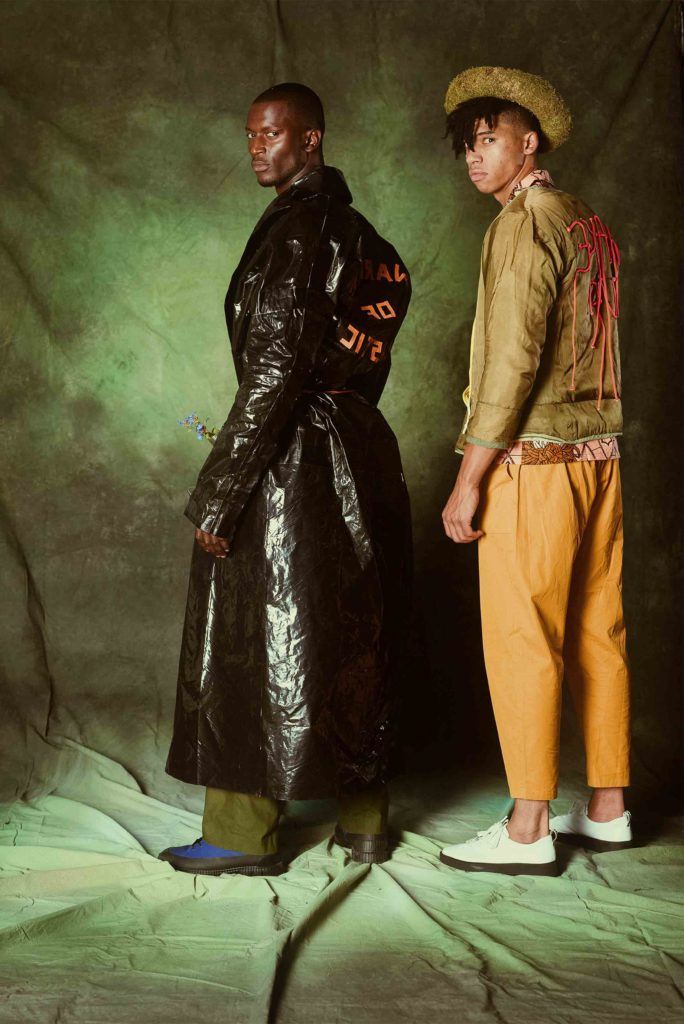 two models wearing Children of the Earth collection